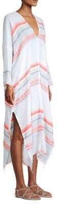 Lemlem Asha Long-Sleeve Stripe Kaftan