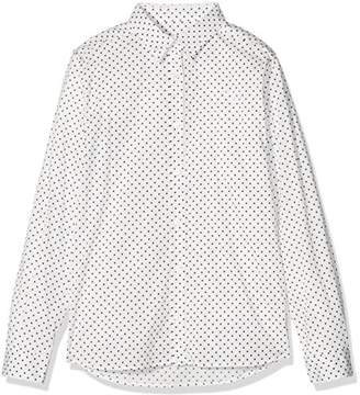 Gant Girl's Broadcloth Stretch Dot Shirt Blouse,(Manufacturer Size: 122/128)