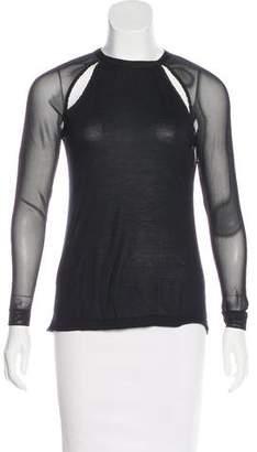 AllSaints Semi-Sheer Long Sleeve Top