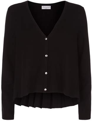 Claudie Pierlot Pleated Reverse Cardigan