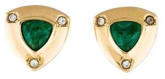 Christian Dior Crystal & Resin Clip-On Earrings