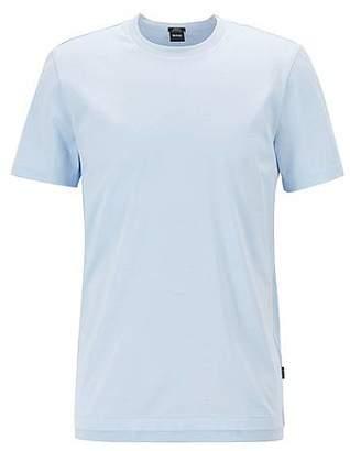 HUGO BOSS Slim-fit T-shirt in mercerised mouliné cotton