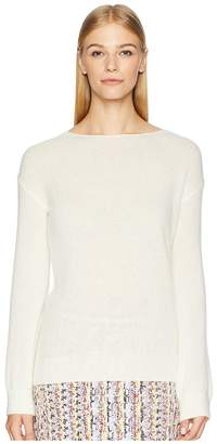 ADAM by Adam Lippes Brushed Cashmere Boat Neck Sweater w/ Tie Back Women's Sweater
