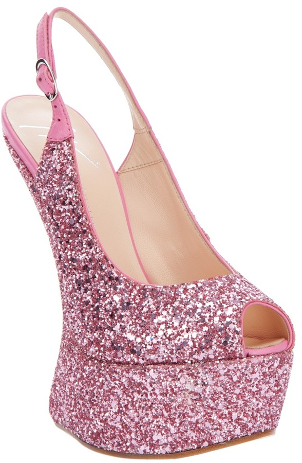 Giuseppe Zanotti Design Sequin wedge heel