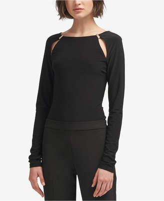 DKNY Long-Sleeve Cutout Bodysuit