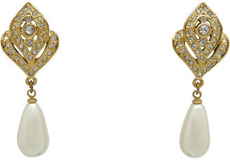 One Kings Lane Vintage Teardrop Faux-Pearl Earrings