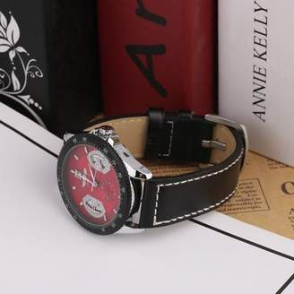 Rich Leather Band Date Calendar Mechanical Automatic Stainless Steel Case Men Watch