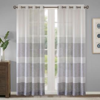 Madison Park 1-Panel Jasper Woven Striped Sheer Window Curtain