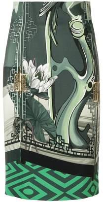 Versace multi-pattern skirt