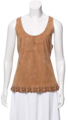 Barbara Bui Sleeveless Suede Top w/ Tags