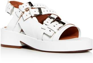 Robert Clergerie Women's Famy Perforated Leather Platform Sandals