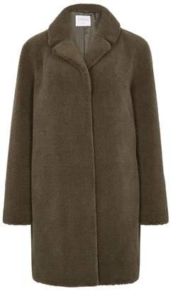 Velvet by Graham & Spencer Army Green Faux Fur Coat