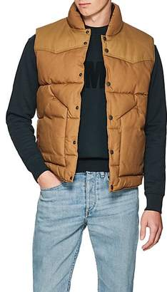 Rag & Bone MEN'S COTTON CANVAS PADDED VEST - BEIGE/TAN SIZE XL