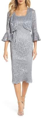 Alex Evenings Lace Sheath Dress & Bolero