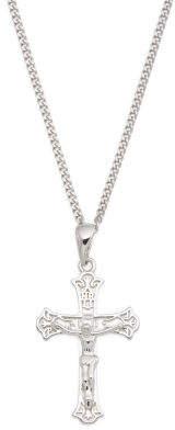 Men's Sterling Silver Cross Necklace