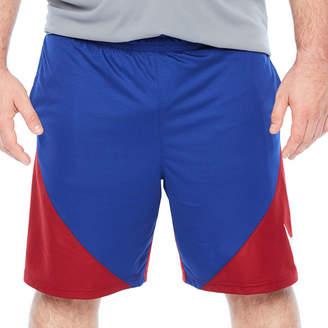 Nike Mens Elastic Waist Workout Shorts - Big and Tall