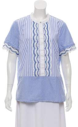 Karl Lagerfeld Short Sleeve Knit Top