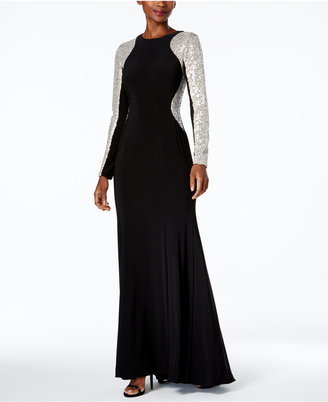 Xscape Sequined Illusion A-Line Gown $199 thestylecure.com