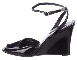Ralph Lauren Patent Wedge Sandals