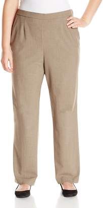 Briggs New York Women's Plus-Size Short Flat Front Straight Leg Pant