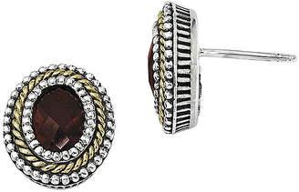 Couture FINE JEWELRY Shey Genuine Garnet Sterling Silver Earrings