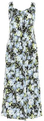 Les Rêveries Floral silk slip dress