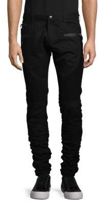 Zippered Twill Pants