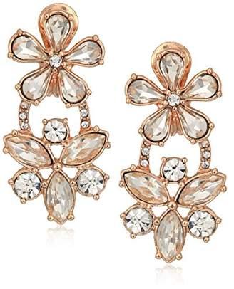Anne Klein Double Flower Drop Earrings