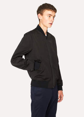 Paul Smith Men's Black Poly-Cotton Bomber Jacket