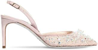 Rene Caovilla 75mm Swarovski Lace Pumps