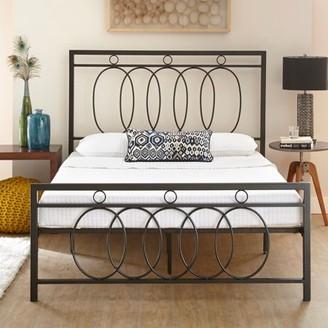 Premier Miles Platform Metal Bed Frame with Bonus Base Wooden Slat System, Multiple Sizes