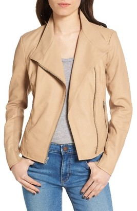 Women's Andrew Marc Felicia Asymmetrical Zip Leather Jacket $450 thestylecure.com