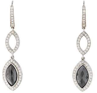 Black Diamond 18K Drop Earrings