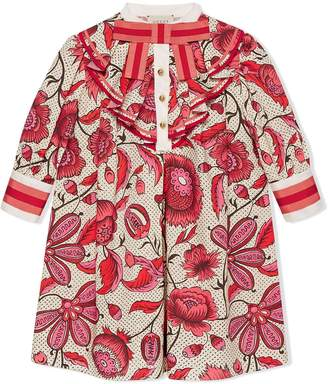 Gucci Kids Children's dress with watercolour flowers