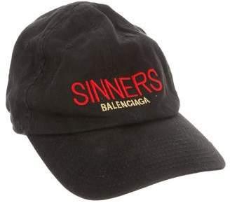 Balenciaga Sinners Twill Cap