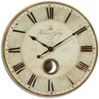 Uttermost Harrison Gray Wall Large Clock
