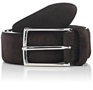 Barneys New York Men's Suede Belt - Brown