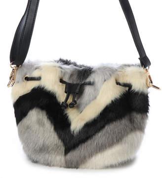 ヴィータフェリーチェ VitaFelice 《数量限定販売》ミックスエコファーバッグ ファー巾着ショルダーバッグ