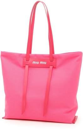 Miu Miu Hemp And City Calf Shopper