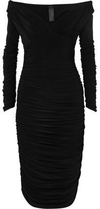 Norma Kamali Tara Convertible Ruched Stretch-jersey Dress - Black