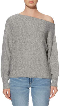 9770f6a9a Grey Off The Shoulder Sweater - ShopStyle Australia