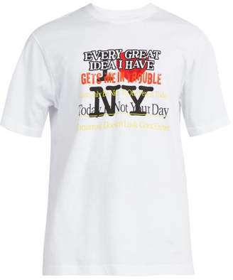 Vetements New York Tourist Printed Cotton T Shirt - Mens - White