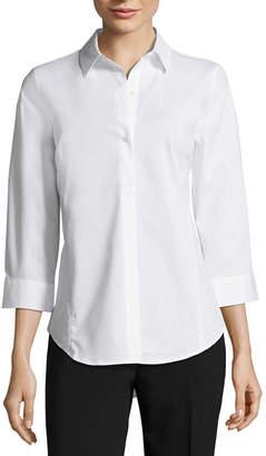 Liz Claiborne 3/4 Sleeve Button Down - Tall