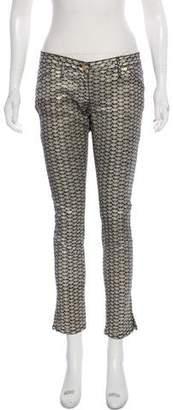 Sass & Bide Low-Rise Metallic Pants
