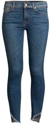 7 For All Mankind Distressed Super Skinny Jeans