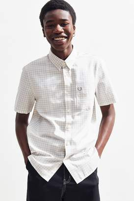 Fred Perry Distorted Gingham Short Sleeve Button-Down Shirt