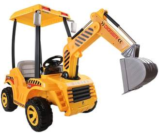 Yellow Ride-On Toy Digger