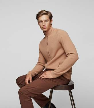 Reiss Toby Ribbed Zip Jumper
