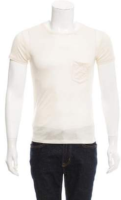 Saint Laurent Silk Crew Neck Shirt