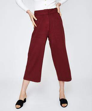 Alice In The Eve Paloma High Rise Culotte Red Pant Burnt Brick